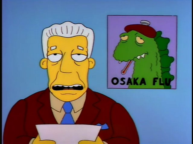Gripe de Osaka Los Simpson
