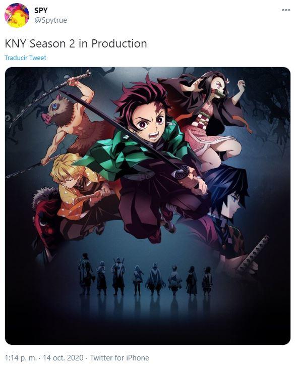 demon slayer temporada 2 producción