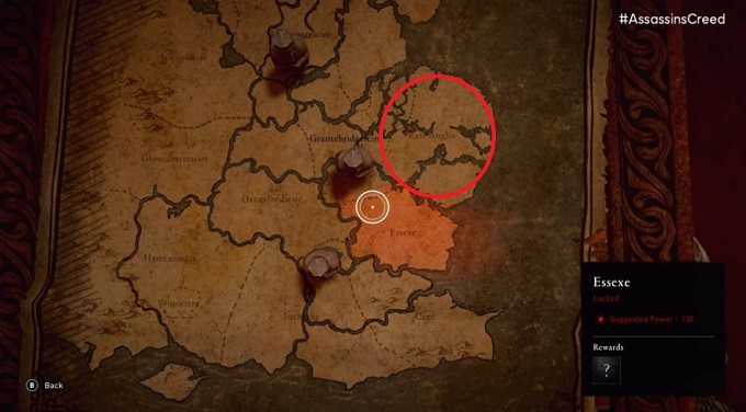 Mapa Assassins Creed donde esta el gato
