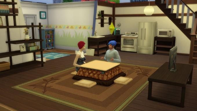 Los Sims Escapada en la nieve mesa
