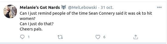 Recuerdan pasado de Sean Connery en redes sociales
