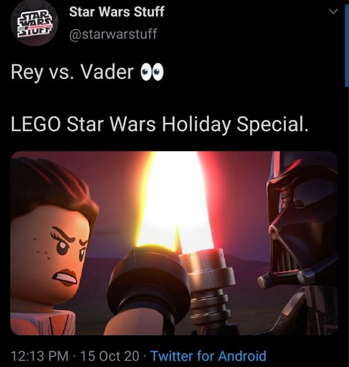 Star Wars duelo de Rei y Darth Vader con Lego