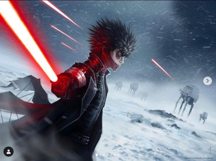 My hero academia y Star wars crossover con Dabi.