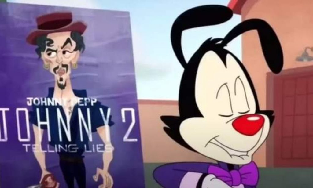 Broma de animaniacs  con Johnny Depp