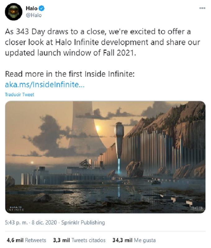 Comunicado con fecha de estreno de Halo Infinite
