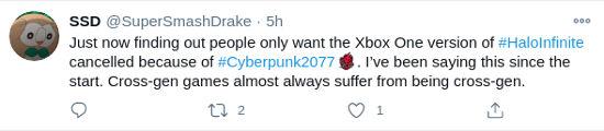 Fans piden que Halo Infinite no llegue a Xbox One para que no acabe como Cyberpunk 2077
