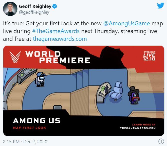 Among Us revelará nuevo mapa en The Game Awards.