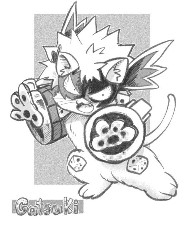 Bakugo Katsuki en forma de gato: Catsuki.