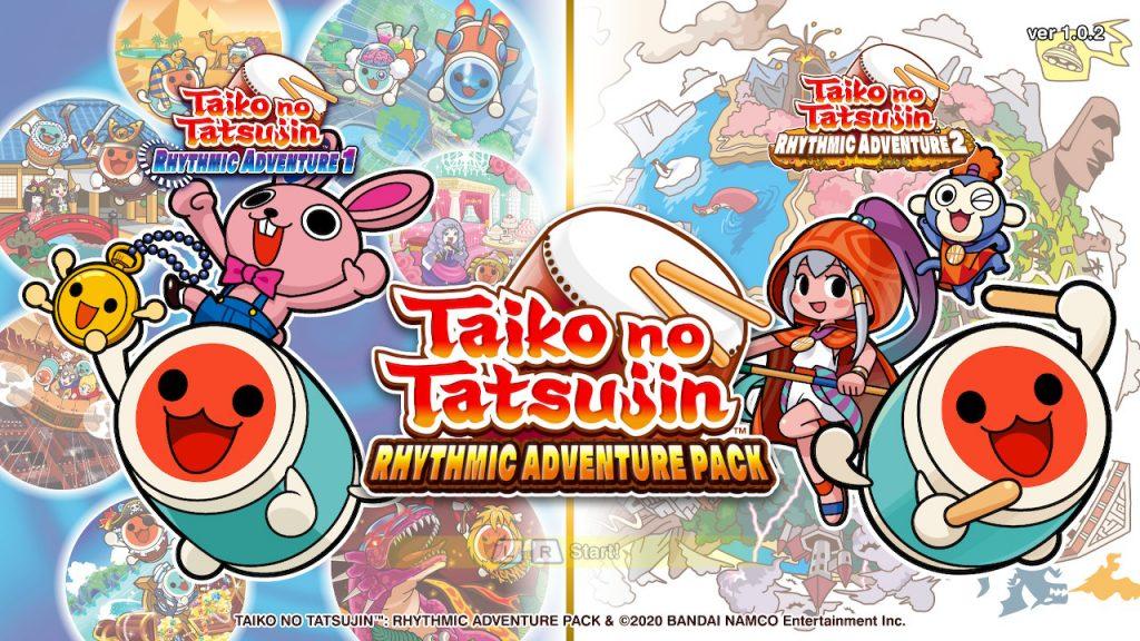 Pantalla inicial de Taiko no Tatsujin: Rhythmic Adventure Pack