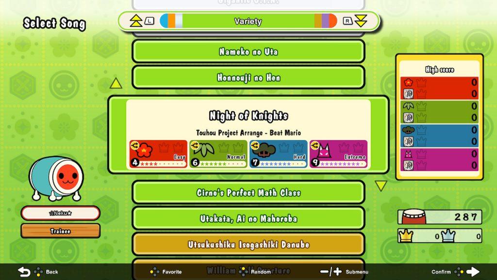 Canciones en Taiko no Tatsujin: Rhythmic Adventure Pack
