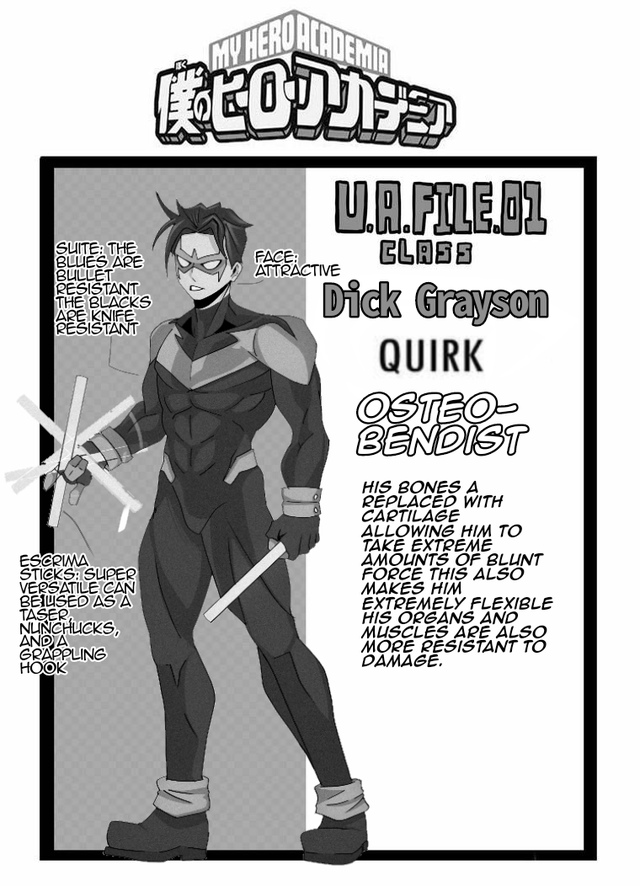 nightwing, quirk, my hero academia
