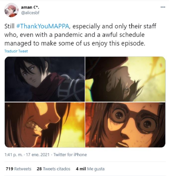 Attack on Titan Comentarios a favor