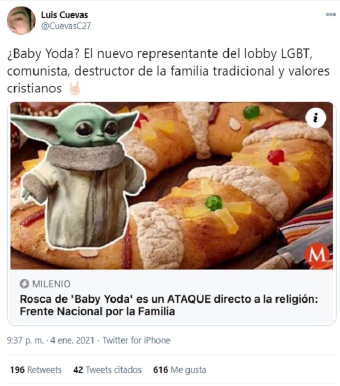 Grogu comentario a Baby Yoda LGBT