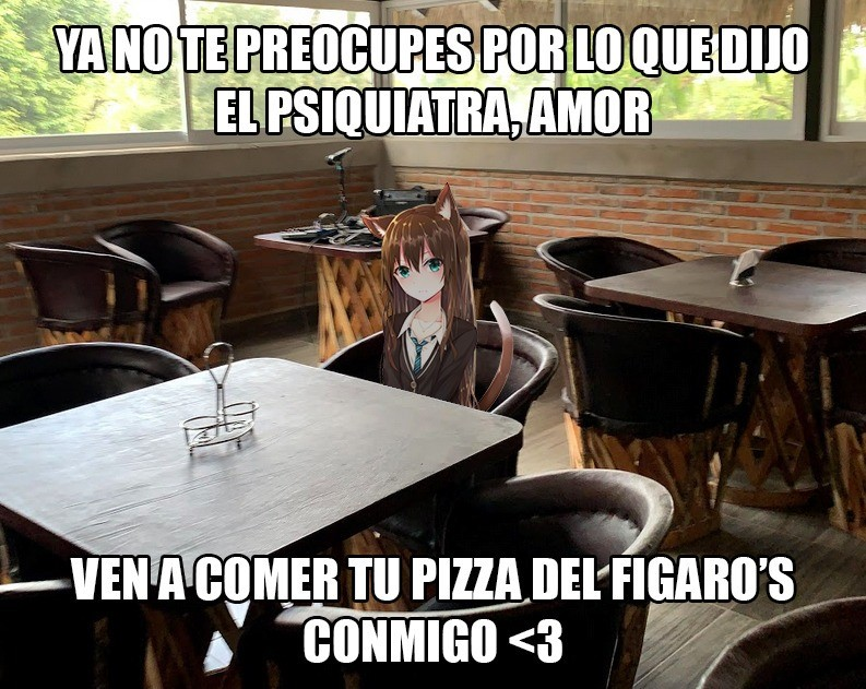 En México un local de pizza aprovechó el poder de las waifus para promocionarse, con memes que se hicieron virales y lograron su cometido.