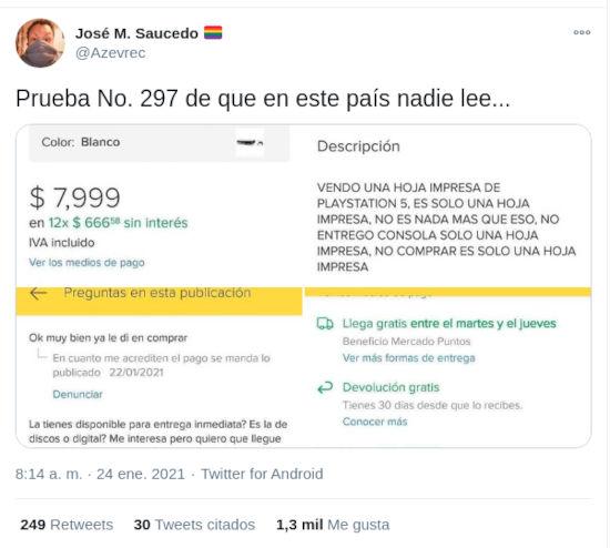 Estafan a compradores del PS5 con fotos del sistema en México