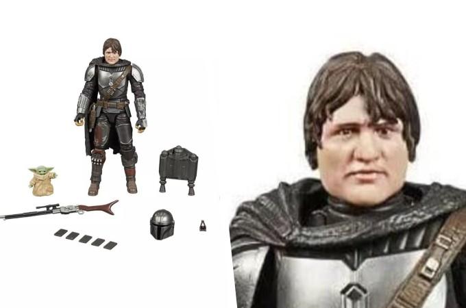 Figura Black Series de The Mandalorian parecida a Evo Morales.