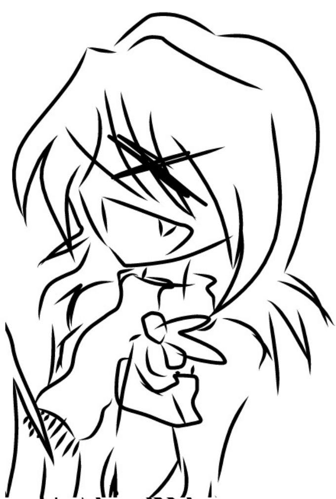 Dibujo de XD en cara de anime
