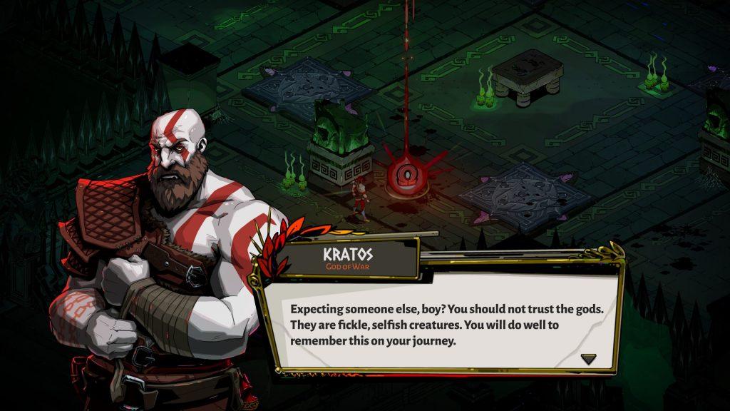 God of War Kratos crossover con Hades.