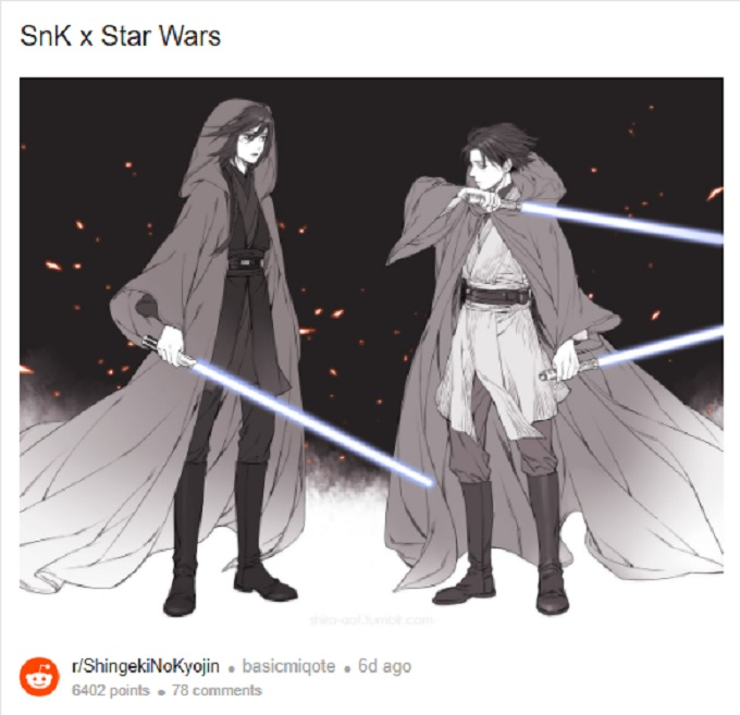 attack on titan Crossover Star Wars