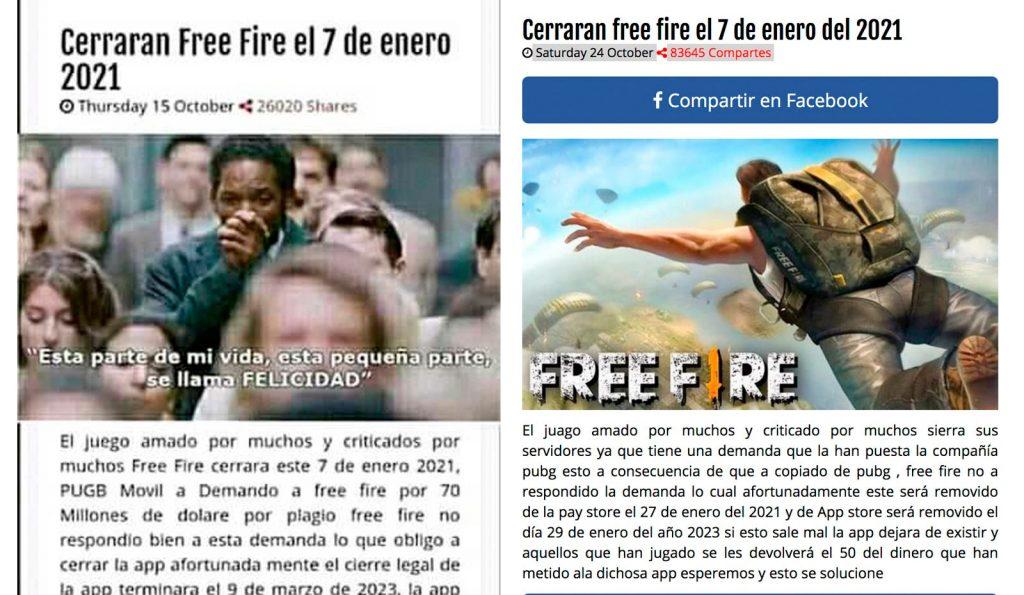 cuando se cierra Free Fire
