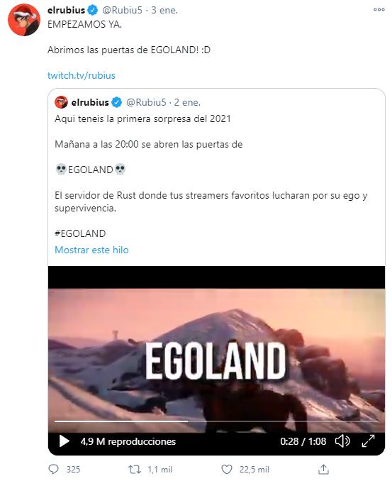 ¿Qué es Egoland? Evento de streamers en Rust.