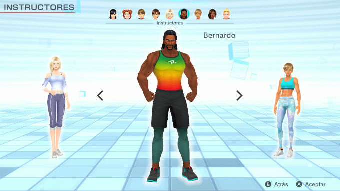 Fitnes boxing-Personajes