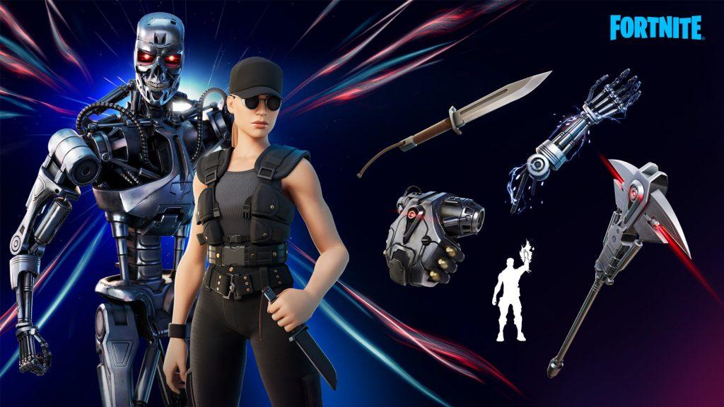 terminator, epic games, fortnite, sarah connor, t-800