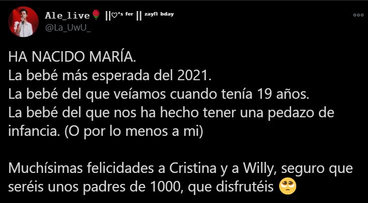 willyrex, cristina, maría