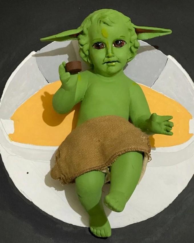 Niño Dios Baby Yoda