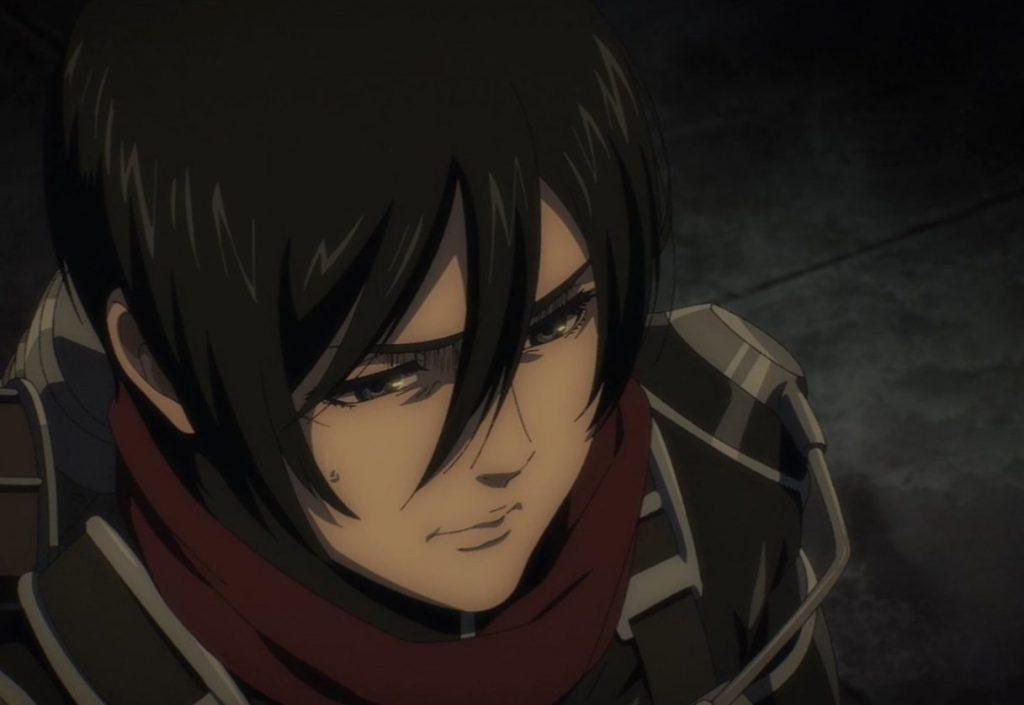 Mikasa en el capítulo 66 Asalto de Shingeki no Kyojin.