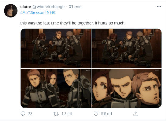 Fans de Attack on Titan lloran muerte de querido personaje