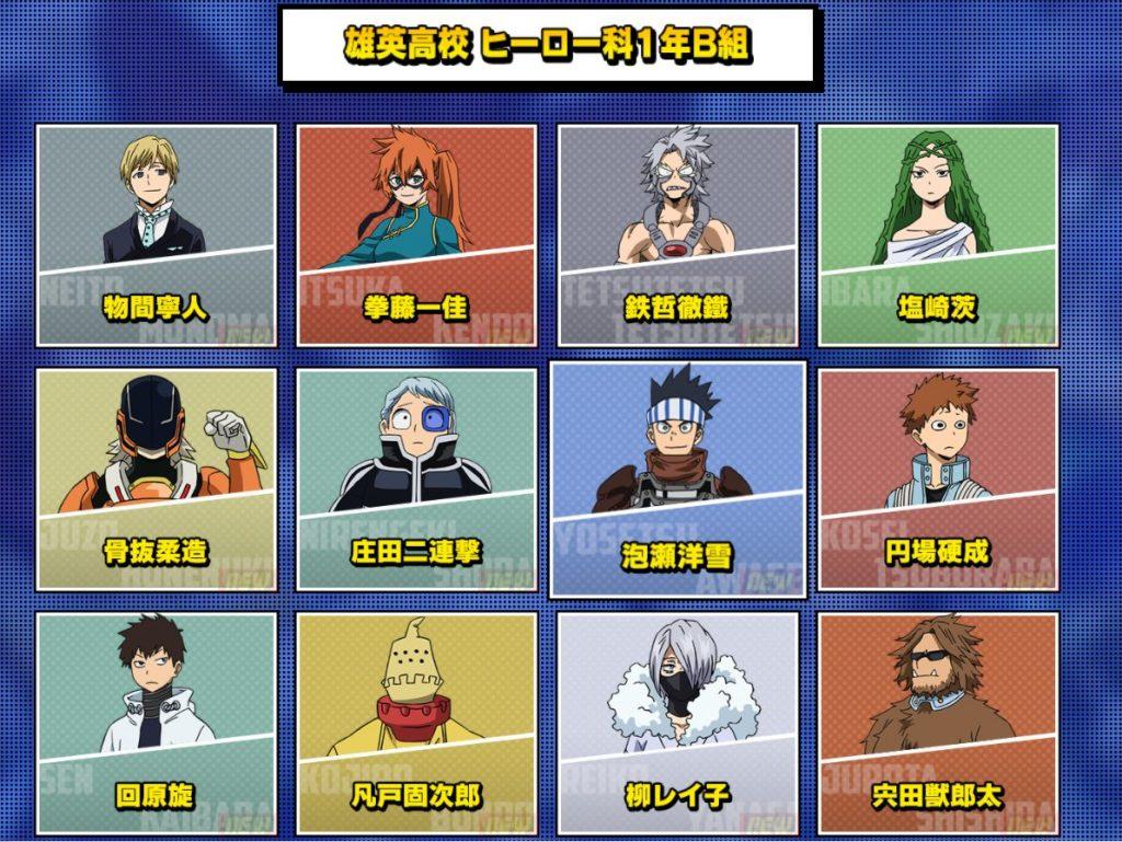 La quinta temporada de My Hero Academia están tan solo a un par de meses y acaba de revelar los nuevos trajes de héroes para la Clase 1-B.