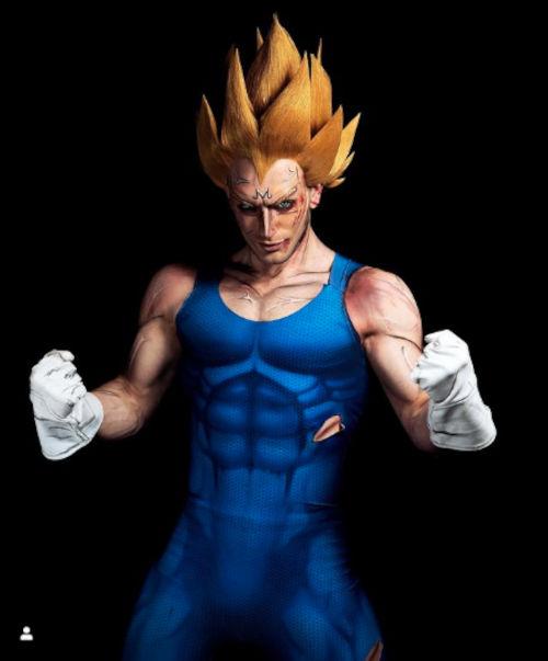 Dragon Ball Z: Majin Vegeta a través del cosplay