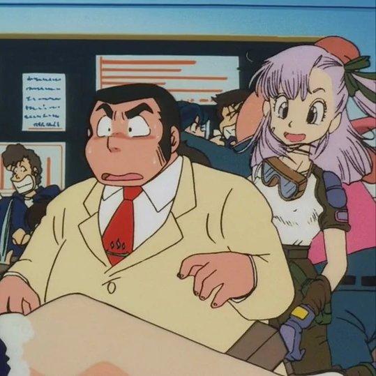 bulma, dragon ball, urusei yatsura, cameo