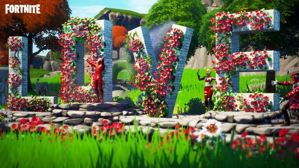 fortnite, modo creativo, epic games, san valentín