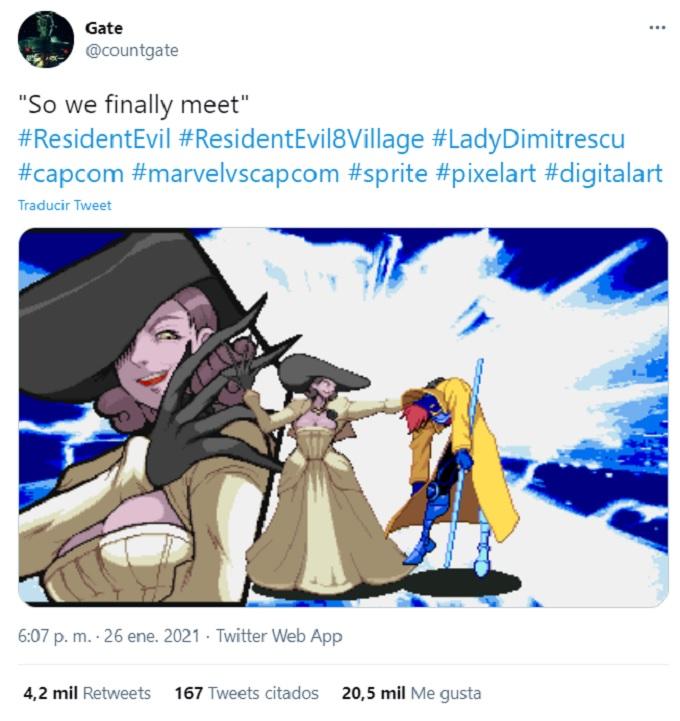 Lady Dimitrescu Marvel vs Capcom