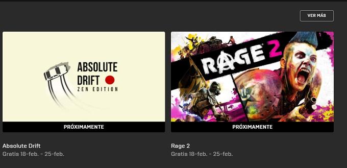 Rage 2 gratis Epic Games Store