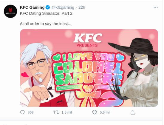 Resident Evil: Lígate a Lady Dimitrescu en... ¡¿el Dating Sim de KFC?!