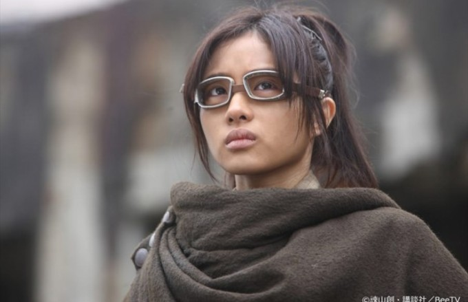 Actriz Satomi Ishihara de Shingeki no Kyojin