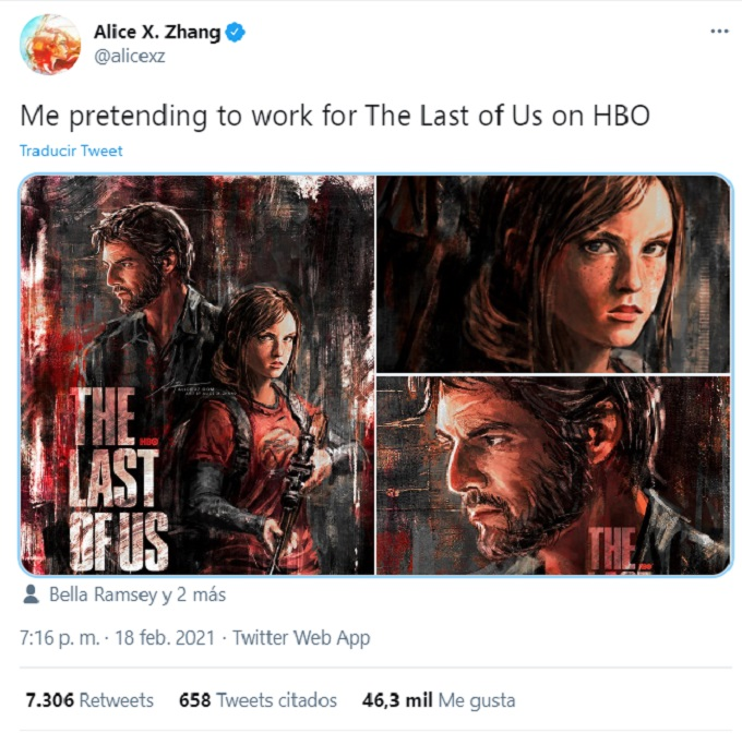 The Last of Us serie HBO poster artista de Marvel