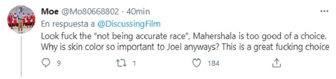 comentario sobre Mahershala Ali como Joel en The Last of Us
