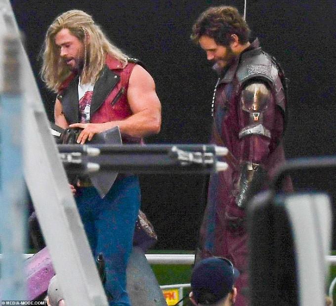 Thor imagenes del set con Chris Pratt