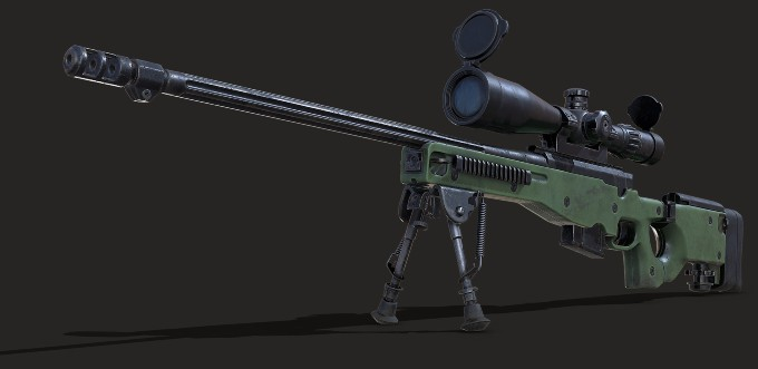 rifle L-96 de Rust