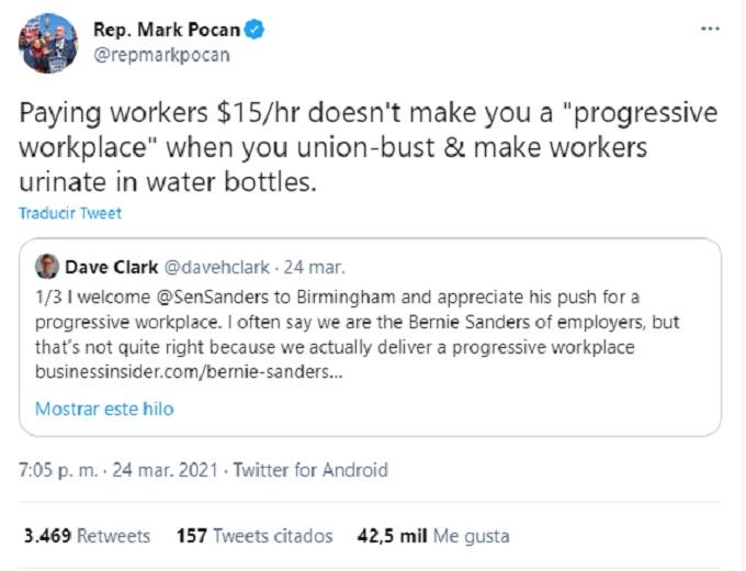 Amazon tweet del politico Mark Pocan