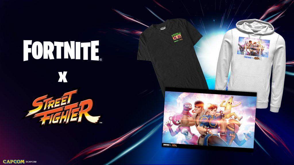 street fighter, fortnite, ropa, epic games