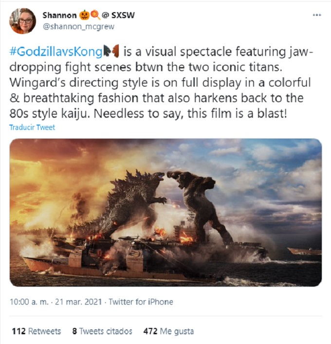 reacciones Godzilla vs Kong