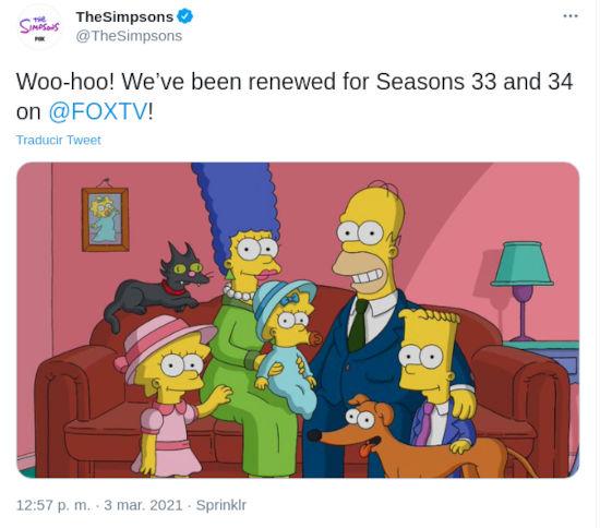 Los Simpson continuarán quieras o no