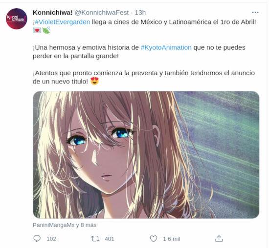 Violet Evergarden: The Movie ya tiene fecha para Latinoamérica