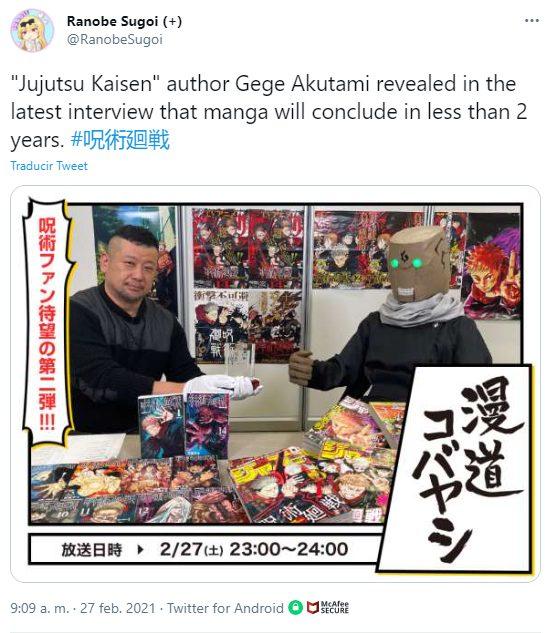 Jujutsu Kaisen podría estar más cerca de su final de lo que imaginas, el autor reveló los planes que tiene para terminar la historia.
