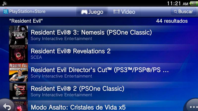 Resient Evil PlayStation Store